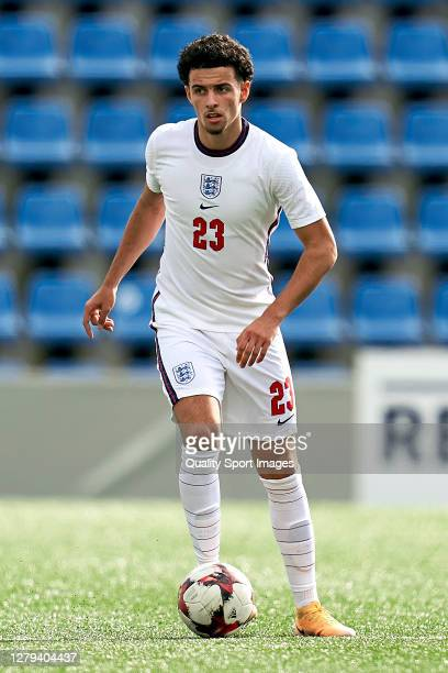 Curtis Jones of England with the ball during the 2020 UEFA European Under21 Championship Group C Qualifier between Andorra and England at Estadi...