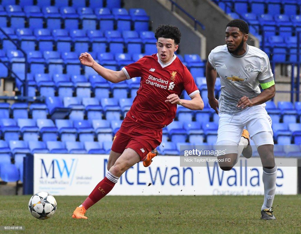 Liverpool v Manchester United: UEFA Youth League : Photo d'actualité