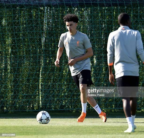 Curtis Jones of Liverpool during a training session at Marbella Football Center on May 16 2017 in San Pedro De Alcantara Spain