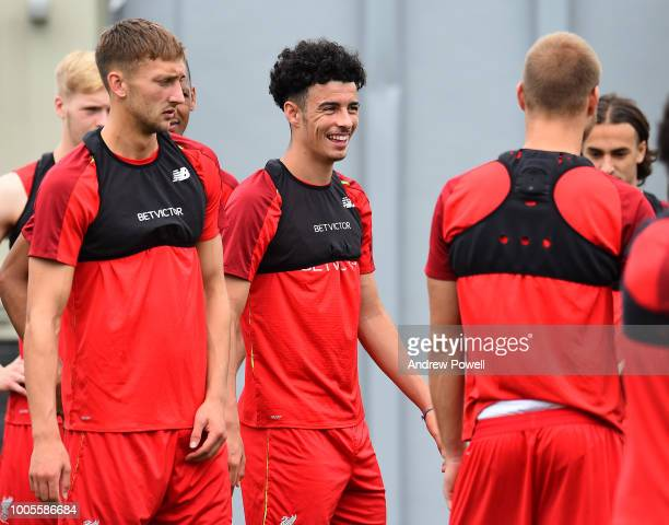 Curtis Jones of Liverpool during a training session at the Red Bull Training Centre on July 26 2018 in Newark New Jersey