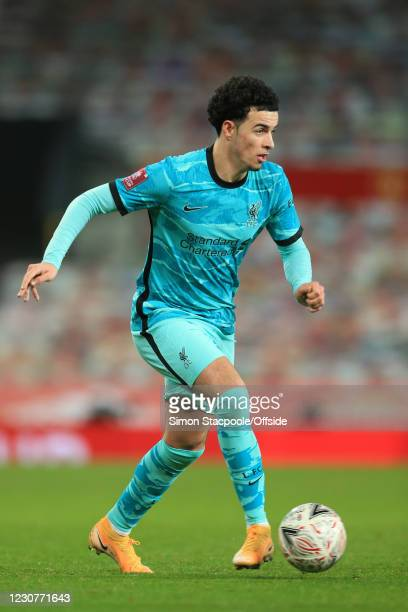 Curtis Jones of Liverpool during The Emirates FA Cup Fourth Round match between Manchester United and Liverpool at Old Trafford on January 24, 2021...