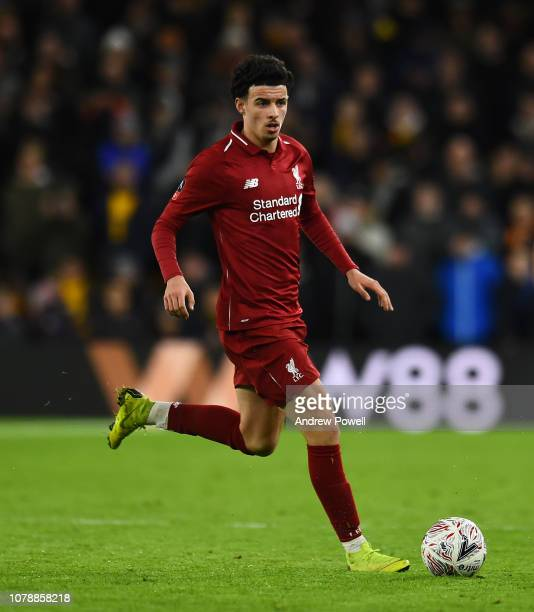 Curtis Jones of Liverpool during the Emirates FA Cup Third Round match between Wolverhampton Wanderers and Liverpool at Molineux on January 7 2019 in...