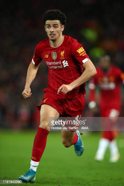 Curtis Jones of Liverpool during the FA Cup Third Round match between Liverpool and Everton at Anfield on January 5 2020 in Liverpool England