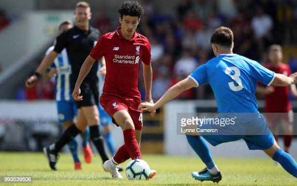 Curtis Jones of Liverpool during the Preseason friendly between Chester FC and Liverpool on July 7 2018 in Chester United Kingdom