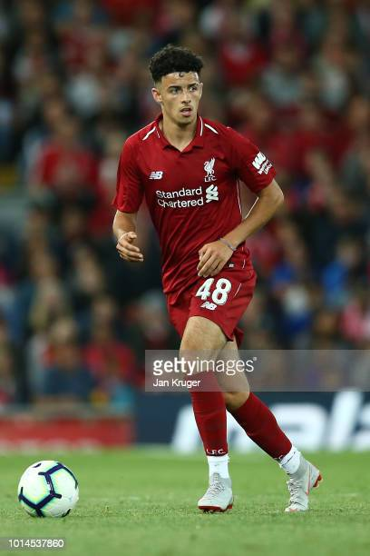 Curtis Jones of Liverpool during the preseason friendly match between Liverpool and Torino at Anfield on August 7 2018 in Liverpool England
