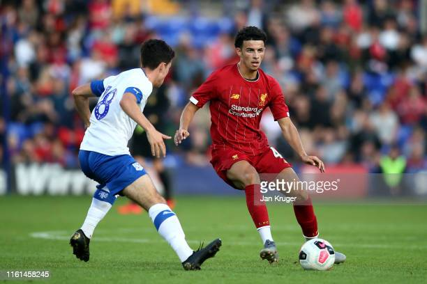 Curtis Jones of Liverpool during the PreSeason Friendly match between Tranmere Rovers and Liverpool at Prenton Park on July 11 2019 in Birkenhead...