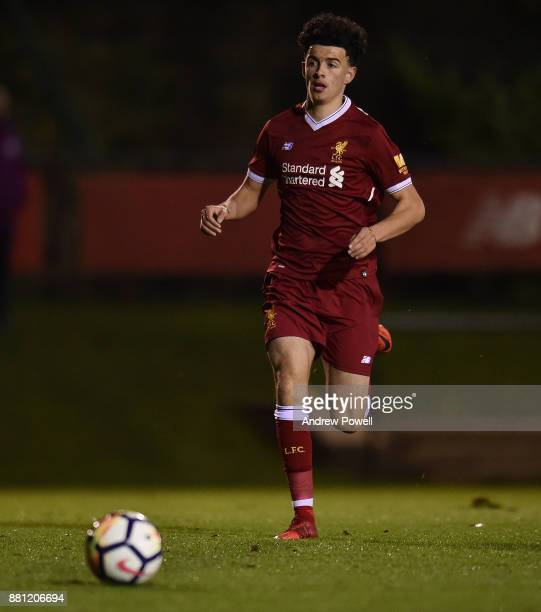 Curtis Jones of Liverpool during the U18 Premier League match between Liverpool U18 and Manchester City U18 at The Academy on November 28 2017 in...