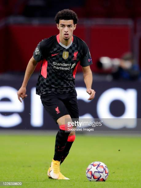 Curtis Jones of Liverpool during the UEFA Champions League match between Ajax v Liverpool at the Johan Cruijff Arena on October 21 2020 in Amsterdam...