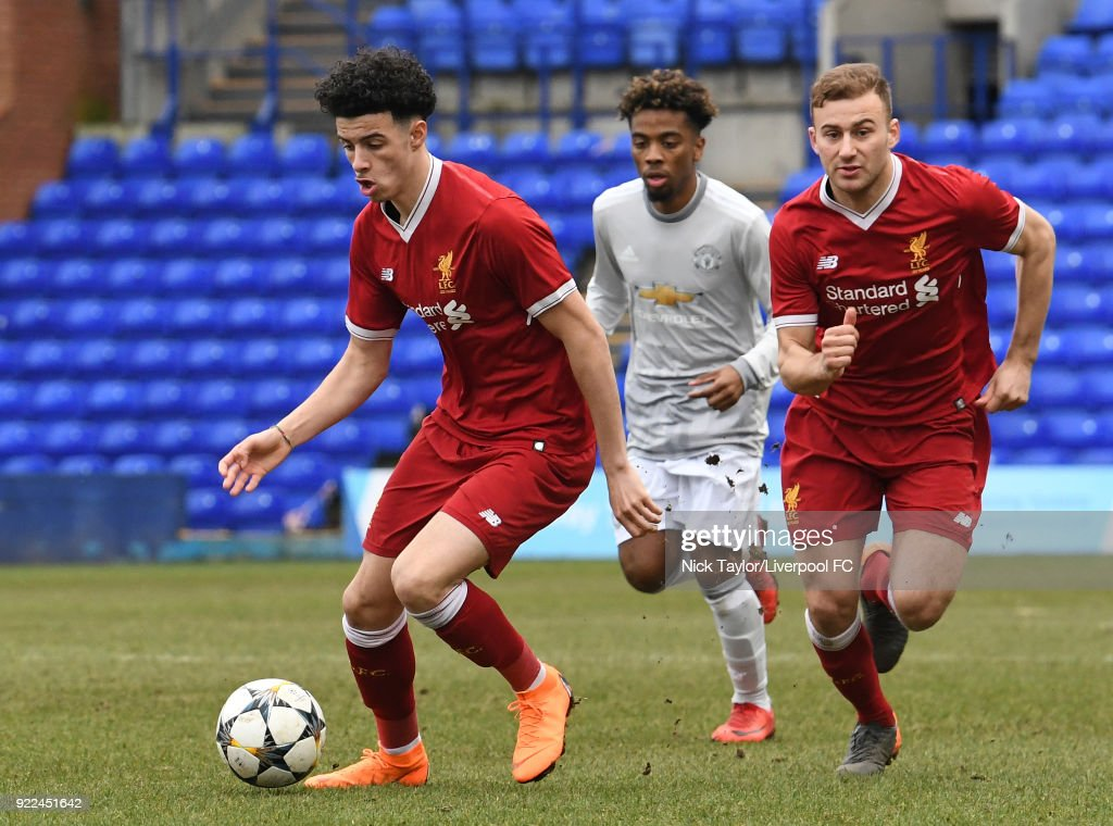 Liverpool v Manchester United: UEFA Youth League : Fotografía de noticias