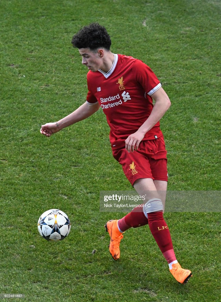 Liverpool v Manchester United: UEFA Youth League : Nachrichtenfoto