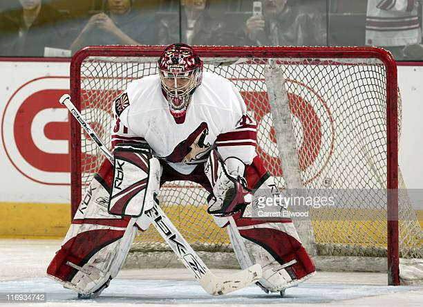 Curtis Joseph during the game against the Colorado Avalanche on December 26 2005 at Pepsi Center in Denver Colorado
