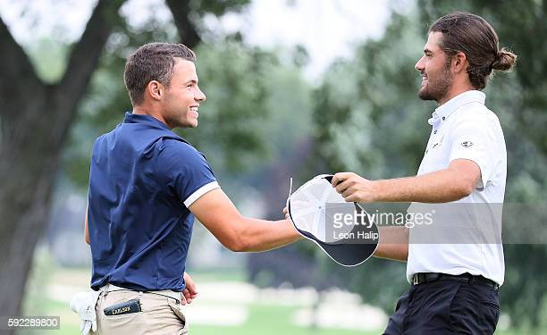 Curtis Luck from Australia wins the semifinal match on the 21st hole over Nick Carlson from Hamilton, Michigan played on the South Course at Oakland...