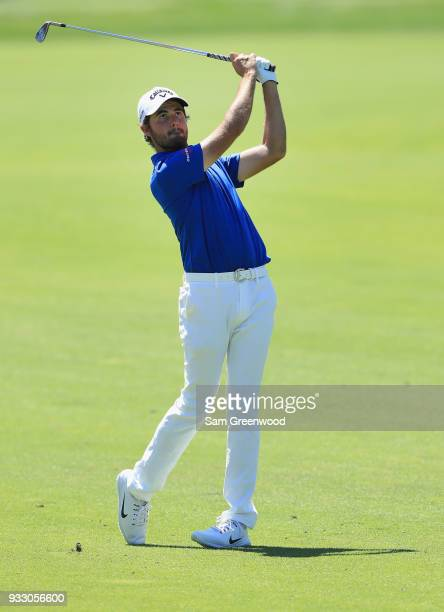 Curtis Luck of Australia plays his shot on the first hole during the third round at the Arnold Palmer Invitational Presented By MasterCard at Bay...