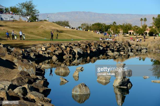 Curtis Luck of Australia tees off at the 17th hole during the third round of the Desert Classic at the Stadium Course on January 19, 2019 in La...