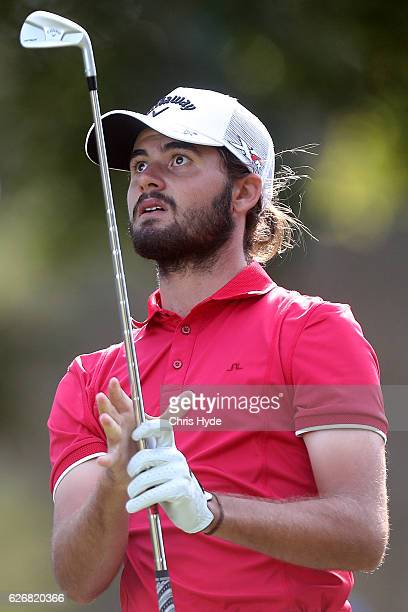Curtis luck of Australia watches his tee shot during day one of the 2016 Australian PGA Championship at RACV Royal Pines Resort on December 1 2016 in...