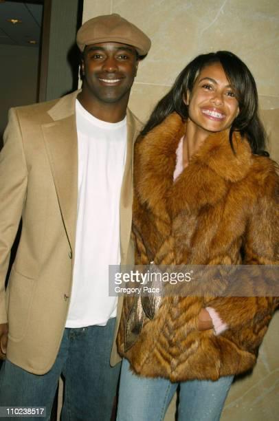 Curtis Martin and Shakara Ledard during 'The Woodsman' New York Cit y Premiere Inside Arrivals at The Skirball Center in New York City New York...