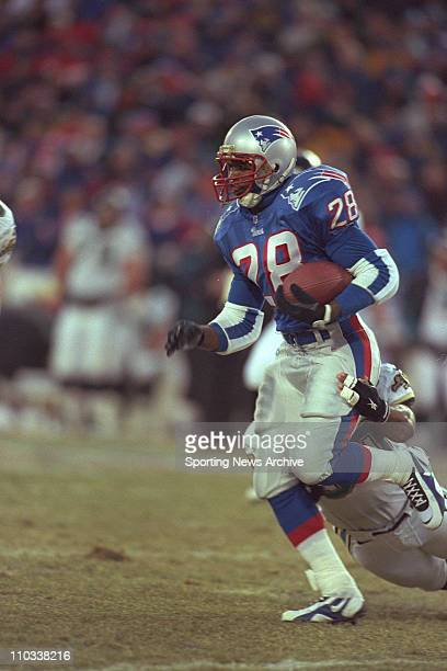 Curtis Martin of the New England Patriots during the Patriots 206 victory over the Jacksonville Jaguars in the aFC Championship Game