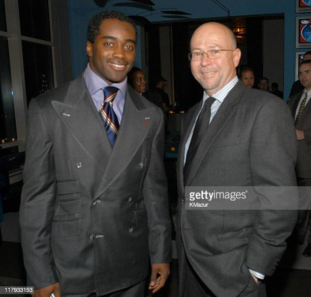 Curtis Martin of the NY Jets and David Granger Esquire EditorInChief
