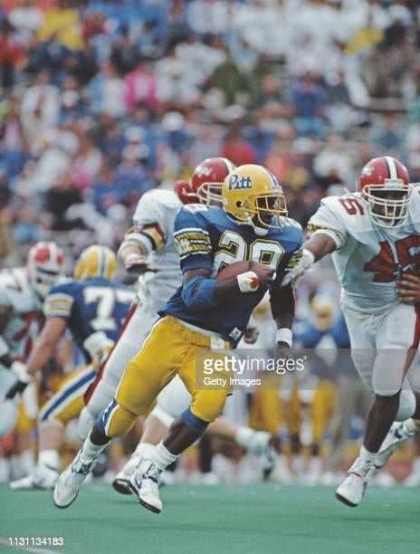 Curtis Martin, Running Back for the University of Pittsburgh Panthers during the NCAA Atlantic Coast Conference college football game against the...