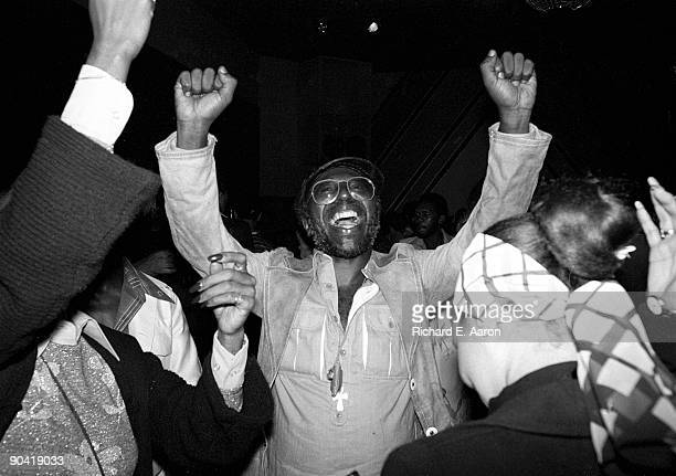 Curtis Mayfield posed inside Studio 54 Club in New York in 1977