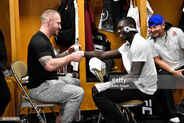 Curtis Millender gets his hands wrapped backstage during the UFC Fight Night event at Frank Erwin Center on February 18 2018 in Austin Texas