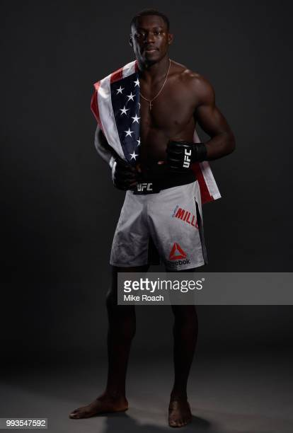 Curtis Millender poses for a portrait backstage during the UFC 226 event inside TMobile Arena on July 7 2018 in Las Vegas Nevada