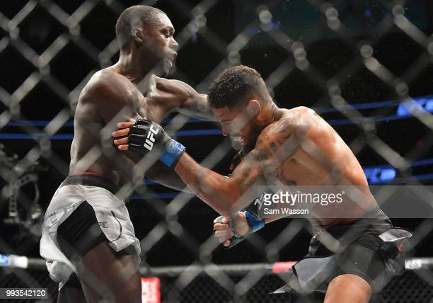 Curtis Millender punches Max Griffin during their welterweight fight at TMobile Arena on July 7 2018 in Las Vegas Nevada Millender won by unanimous...