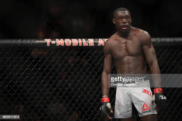 Curtis Millender rests between rounds in his welterweight fight during the UFC 226 event inside TMobile Arena on July 7 2018 in Las Vegas Nevada