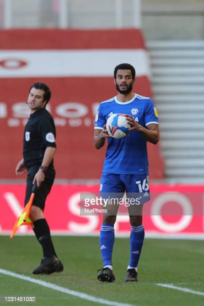 Curtis Nelson of Cardiff City during the Sky Bet Championship match between Middlesbrough and Cardiff City at the Riverside Stadium, Middlesbrough on...