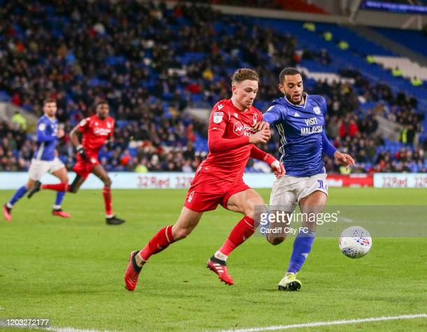 Curtis Nelson of Cardiff City FC during the Sky Bet Championship match between Cardiff City and Nottingham Forest at Cardiff City Stadium on February...