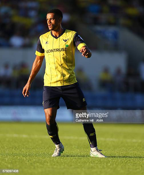 Curtis Nelson of Oxford United during the PreSeason Friendly match between Oxford United and Leicester City at Kassam Stadium on July 19 2016 in...