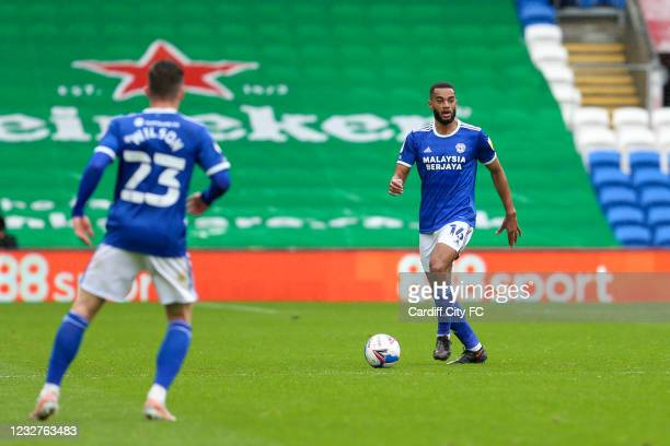 Curtis Nelsonn of Cardiff City FC during the Sky Bet Championship match between Cardiff City and Rotherham United at Cardiff City Stadium on May 8,...