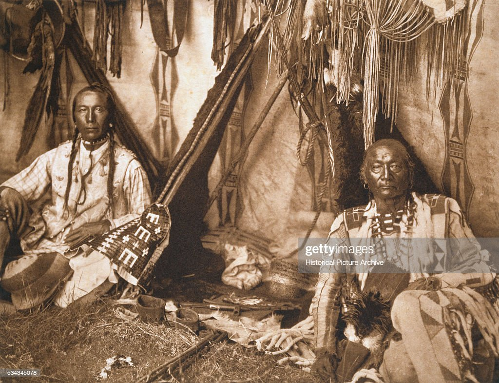 In a Piegan Lodge by Edward S. Curtis : News Photo