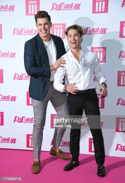 Curtis Pritchard and AJ Pritchard attend the Ru Paul's Drag Race UK Launch on September 17 2019 in London England