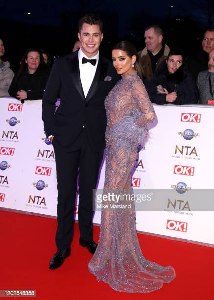 Curtis Pritchard and Maura Higgins attend the National Television Awards 2020 at The O2 Arena on January 28 2020 in London England