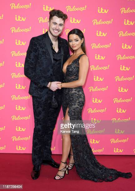 Curtis Pritchard and Maura Higgins attends the ITV Palooza 2019 at The Royal Festival Hall on November 12 2019 in London England