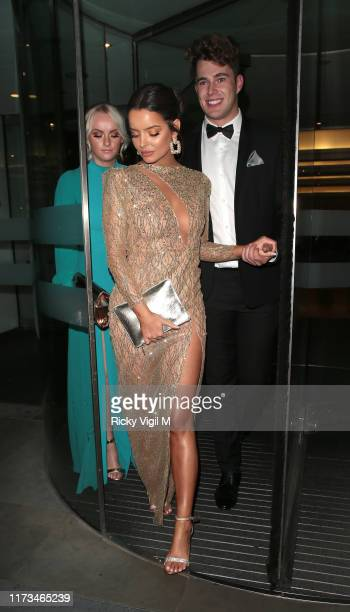 Curtis Pritchard and Maura Higgins seen attending The TV Choice Awards at London Hilton Park Lane on September 09 2019 in London England