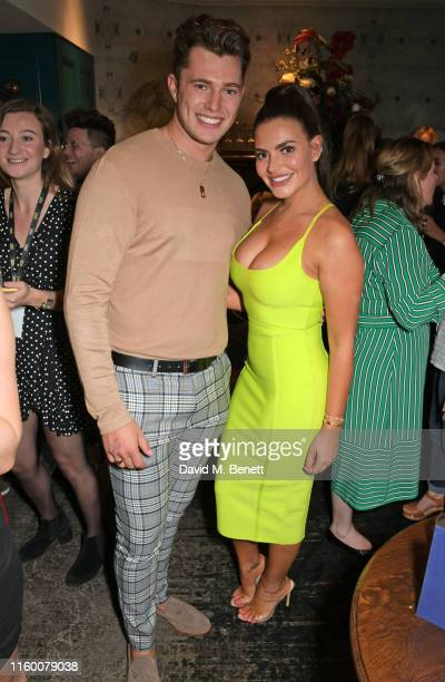 Curtis Pritchard and Megan Barton Hanson attend a VIP performance of Magic Mike Live London at the Hippodrome Casino on August 6, 2019 in London,...