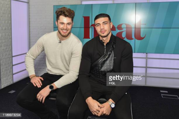 Curtis Pritchard and Tommy Fury visit the Heat Studio's on November 25 2019 in London England