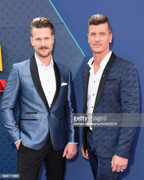 Curtis Rempel and Brad Rempel attend the 53rd Academy of Country Music Awards at MGM Grand Garden Arena on April 15 2018 in Las Vegas Nevada