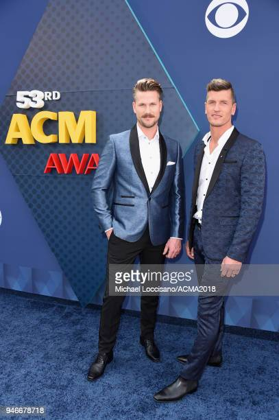 Curtis Rempel and Brad Rempel attends the 53rd Academy of Country Music Awards at MGM Grand Garden Arena on April 15 2018 in Las Vegas Nevada