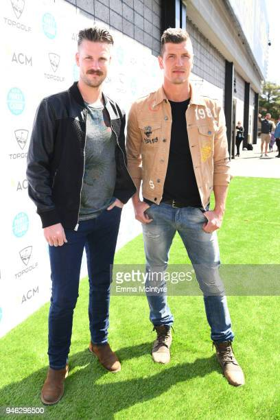 Curtis Rempel and Brad Rempel of High Valleyattends the ACM Lifting Lives TOPGOLF TeeOff at Topgolf Las Vegas on April 14 2018 in Las Vegas Nevada