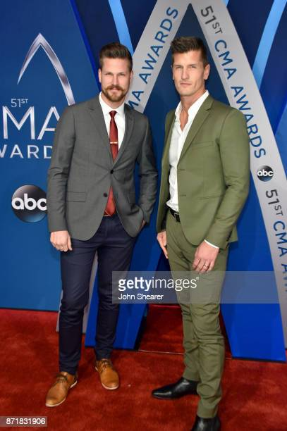 Curtis Rempel and Brad Rempel of musical duo High Valley attend the 51st annual CMA Awards at the Bridgestone Arena on November 8 2017 in Nashville...