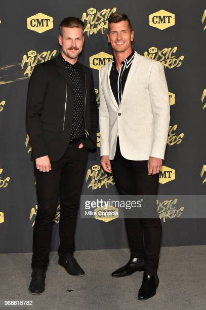 Curtis Rempel and Brad Rempel of the band High Valley attend the 2018 CMT Music Awards at Bridgestone Arena on June 6 2018 in Nashville Tennessee