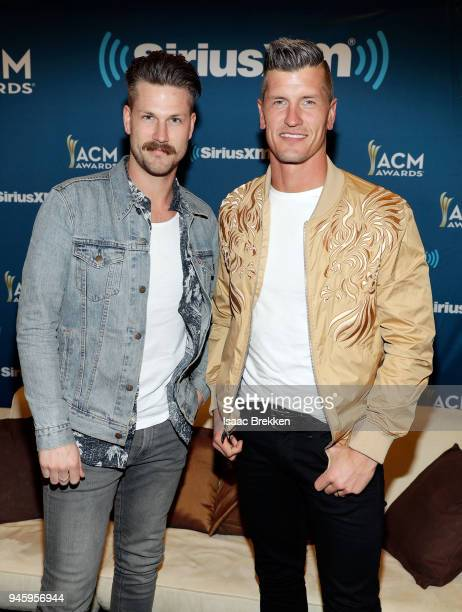 Curtis Rempel and Brad Rempel of the band High Valley attend SiriusXM's The Highway channel broadcast backstage from the Academy of Country Music...