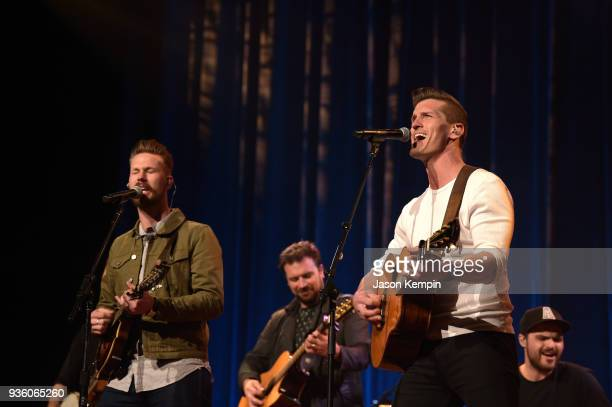 Curtis Rempel and Brad Rempel of the band High Valley performs at Ryman Auditorium on March 21 2018 in Nashville Tennessee
