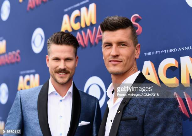 Curtis Rempel and Bryan Rempel attend the 53rd Academy of Country Music Awards at MGM Grand Garden Arena on April 15 2018 in Las Vegas Nevada