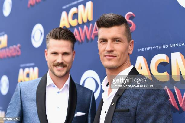 Curtis Rempel and Bryan Rempel attends the 53rd Academy of Country Music Awards at MGM Grand Garden Arena on April 15 2018 in Las Vegas Nevada