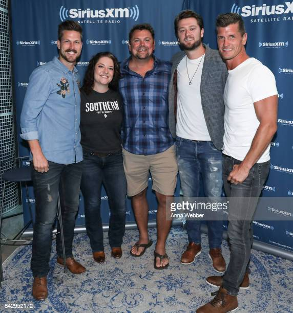 Curtis Rempel of High Valley Ashley McBryde Sirius XM host Storme Warren Adam Doleac and Brad Rempel of High Valley attend High Valley Ashley McBryde...