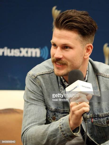 Curtis Rempel of the band High Valley attends SiriusXM's The Highway channel broadcast backstage from the Academy of Country Music Awards on April 13...